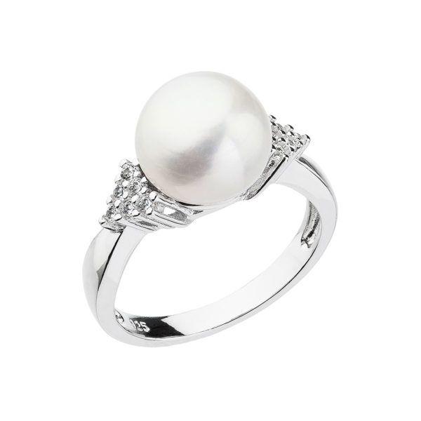 Pavona Stříbrný prsten s bílou říční perlou 25002.1 Velikost: 58