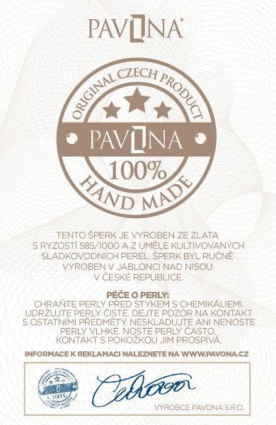 Pavona Zlaté náušnice 81011.1 bílé zlato s briliantem