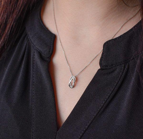 Pavona Zlatý náhrdelník 82001.1 bílé zlato s briliantem