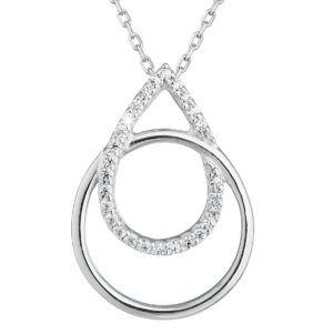 Pavona Zlatý náhrdelník 82003.1 bílé zlato s briliantem