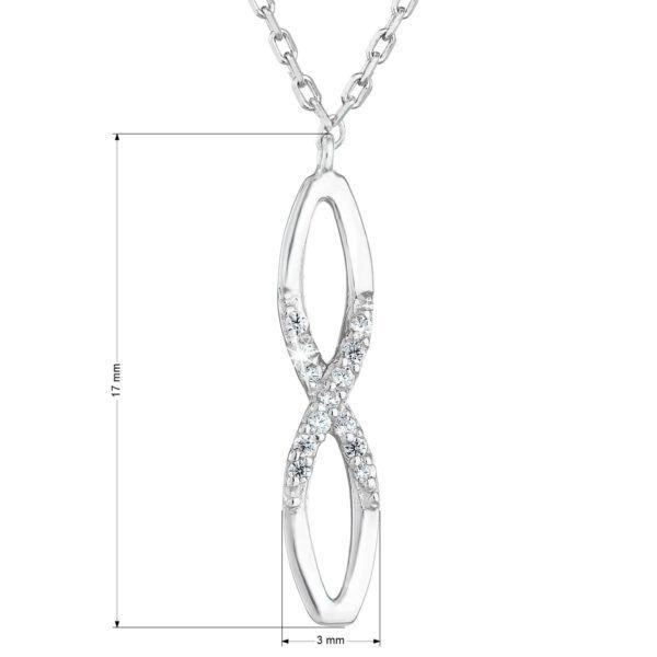 Pavona Zlatý náhrdelník 82004.1 bílé zlato s briliantem