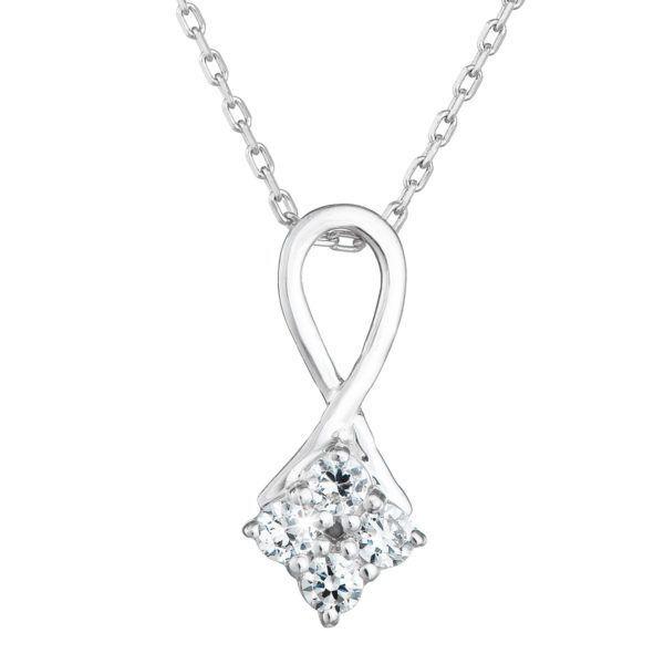 Pavona Zlatý náhrdelník 82007.1 bílé zlato s briliantem