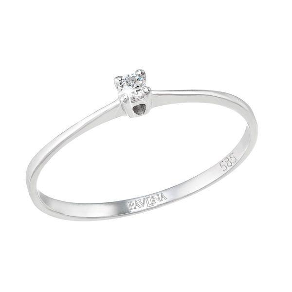 Pavona Zlatý prsten 85008.1 bílé zlato
