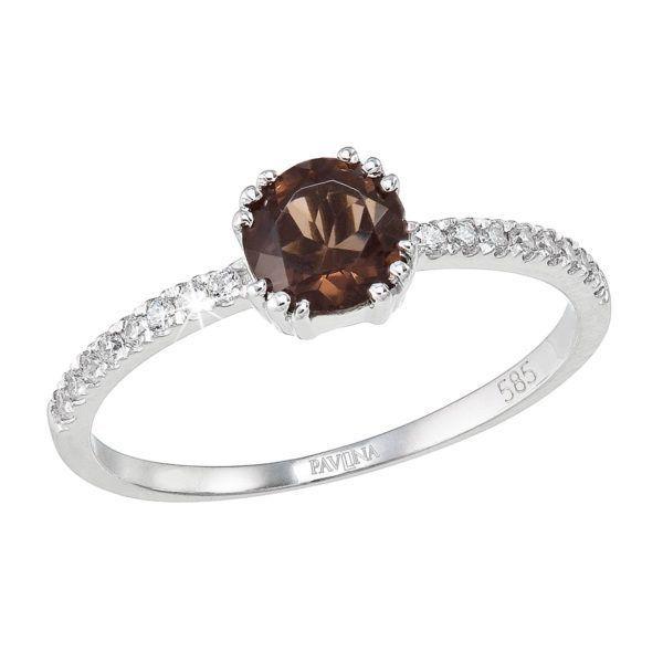 Pavona Zlatý prsten 85019.3 bílé zlato
