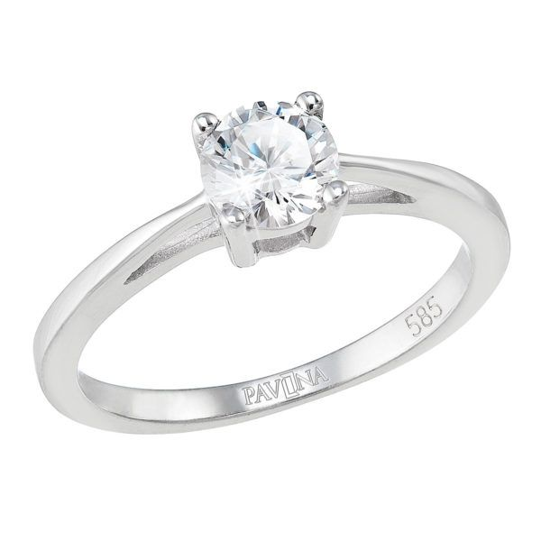 Pavona Zlatý prsten 85032.1 bílé zlato